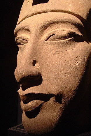 egyptian face ekhnaton